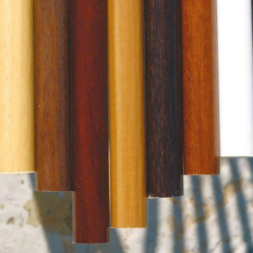 Colores barras madera
