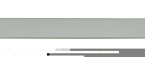 Galería recta color aluminio