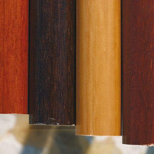 Colores barras madera latón