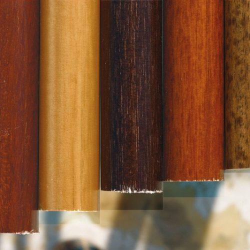Colores barras madera niquel