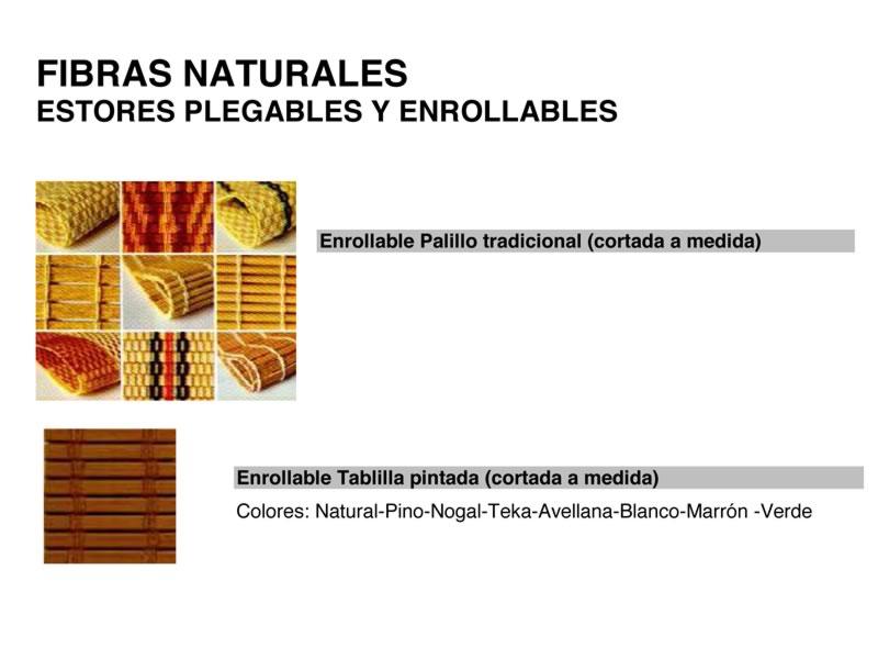 Estores de fibras naturales