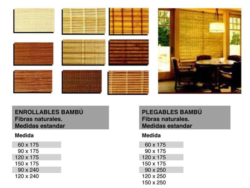 Estores plegables de bambú